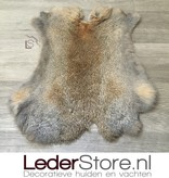 Rabbit skin gray brown 45x40cm