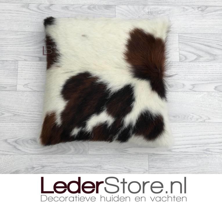 Cowhide pillow black brown white normandier 40x40cm