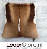 Springbok kussen bruin wit natural 45x45cm