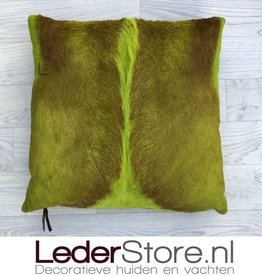Springbok pillow lime green dyed 45x45cm