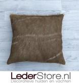 kuduhide pillow brown white 45x45cm