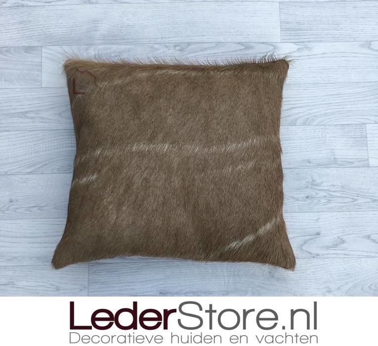 Kudu kussen bruin wit 45x45cm
