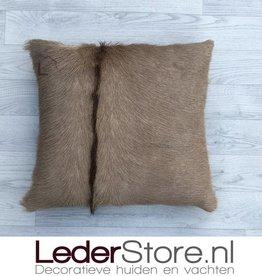 kuduhide pillow brown 45x45cm