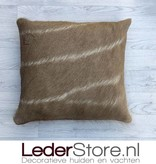 kuduhide pillow brown white 45x45cm