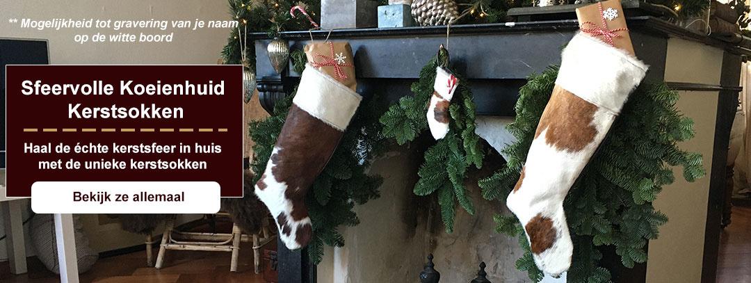 Koeienhuid kerstsokken