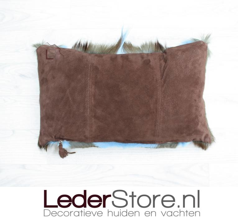 Springbuckhide pillow light blue dyed 45x30cm
