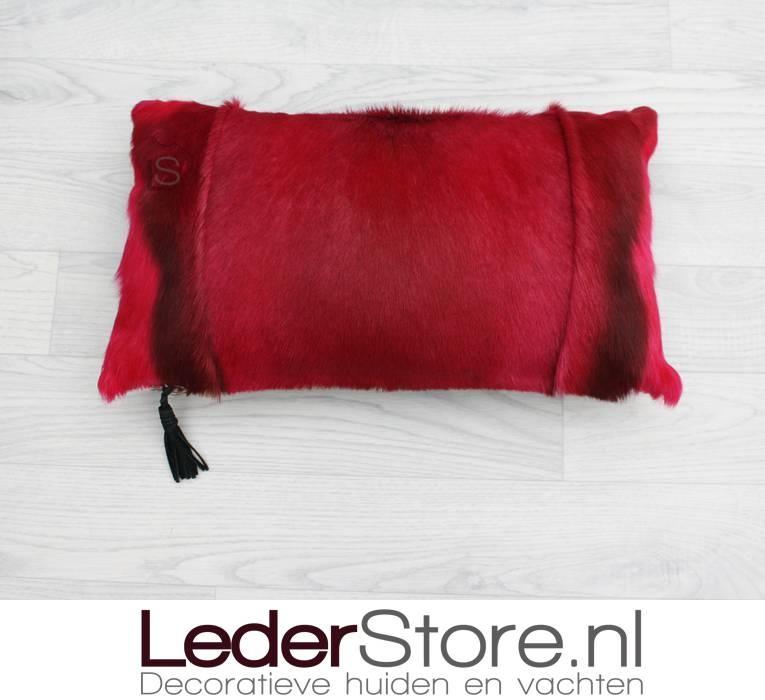 Springbuckhide pillow pink dyed 45x30cm