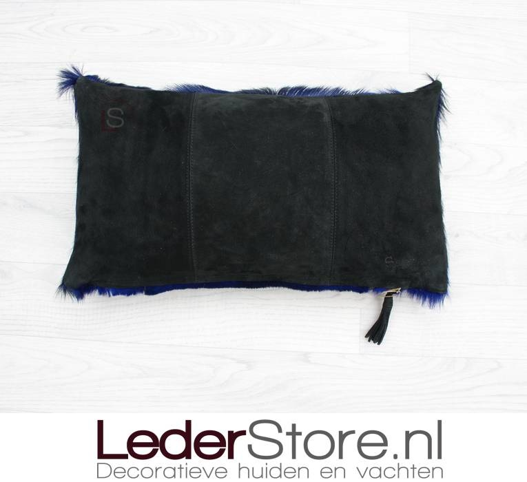 Springbuckhide pillow dark blue dyed 45x30cm