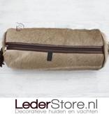 Kuduhide pillow brown white 45x18cm