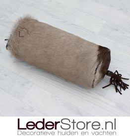 Oryxhuid kussen bruin wit 45x18cm