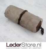 Oryxhide pillow brown white 45x18cm
