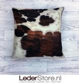 Cowhide pillow brown black white normandier 50x50cm