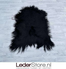 Icelandic sheepskin black brown 115x80cm