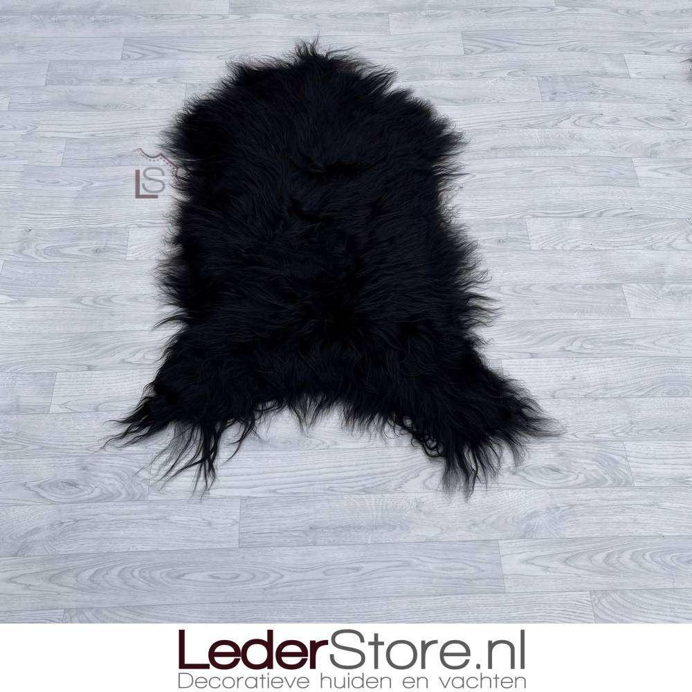 Icelandic sheepskin black 125x85cm