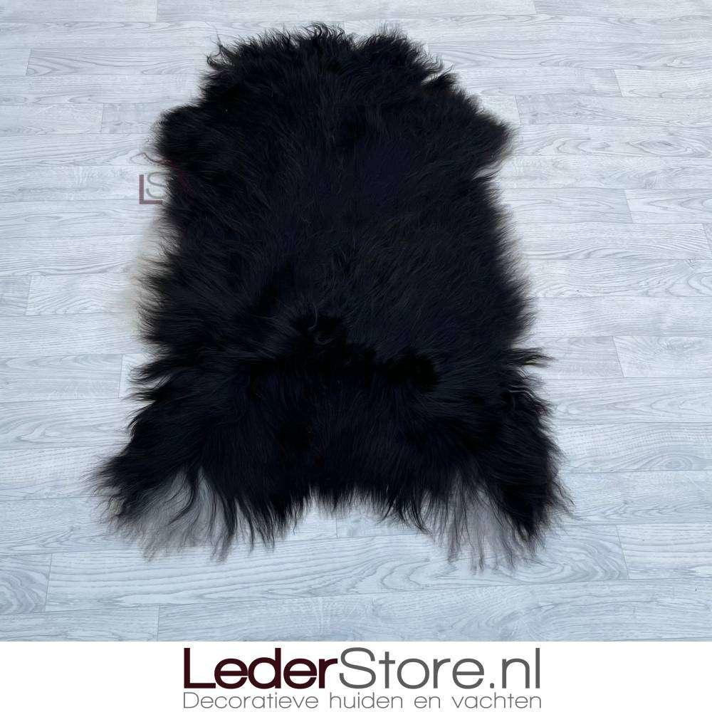 IJslander schapenvacht zwart wit 130x80cm