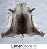 Reindeer hide brown white 140x130cm