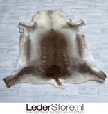 Rendierhuid bruin wit 140x135cm