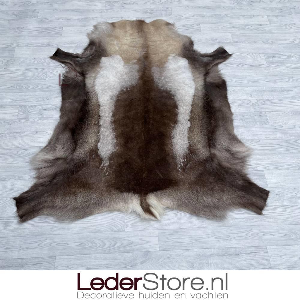 Reindeer hide brown white 145x130cm