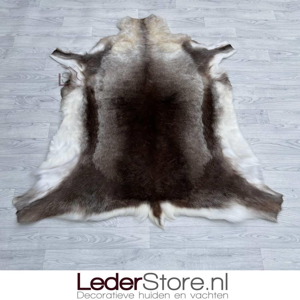 Rendierhuid bruin wit 145x135cm