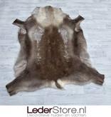 Reindeer hide brown white 145x125cm