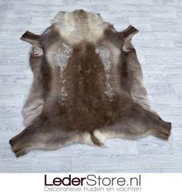 Rendierhuid bruin wit 145x125cm