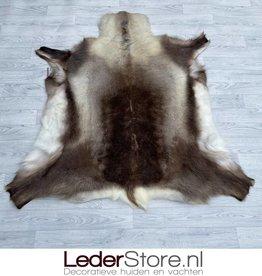 Reindeer hide brown white 135x130cm