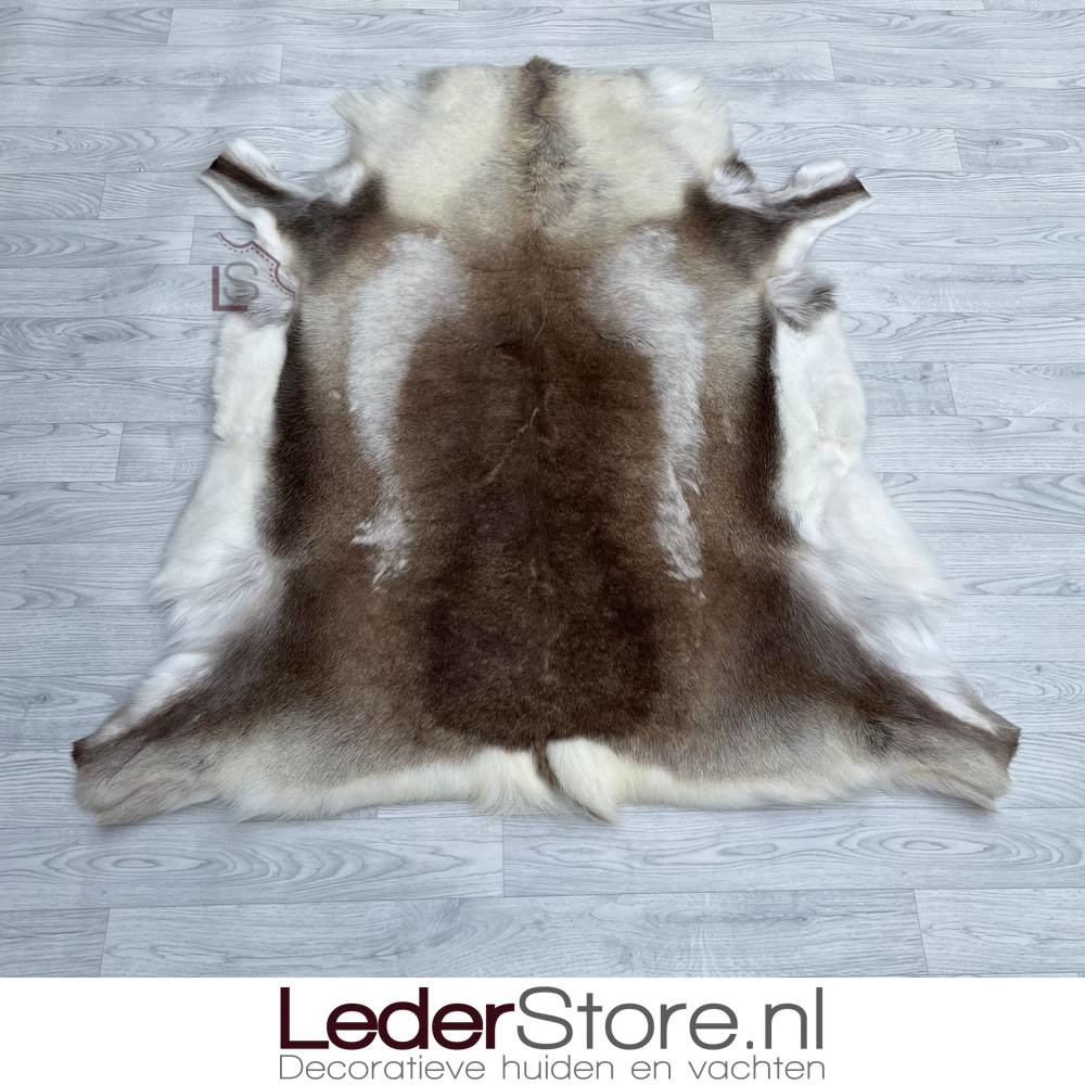 Reindeer hide brown white 130x125cm