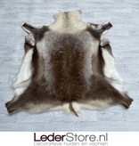 Rendierhuid bruin wit 135x120cm