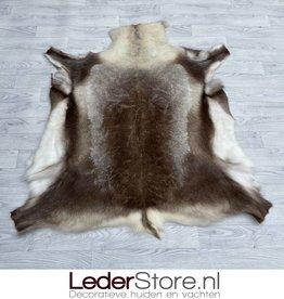 Reindeer hide brown white 135x120cm