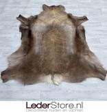 Reindeer hide brown white 165x145cm