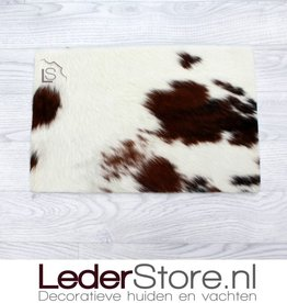 Cowhide placemat  brown black white 45x30cm