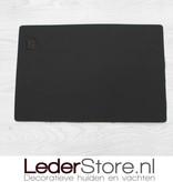 Cowhide placemat  brown black white 45x30cm