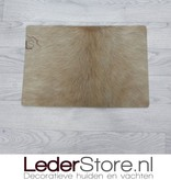 Koeienhuid placemat beige 45x30cm