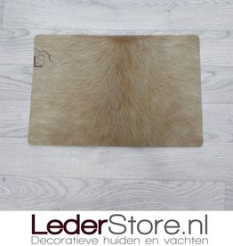 Cowhide placemat  beige 45x30cm