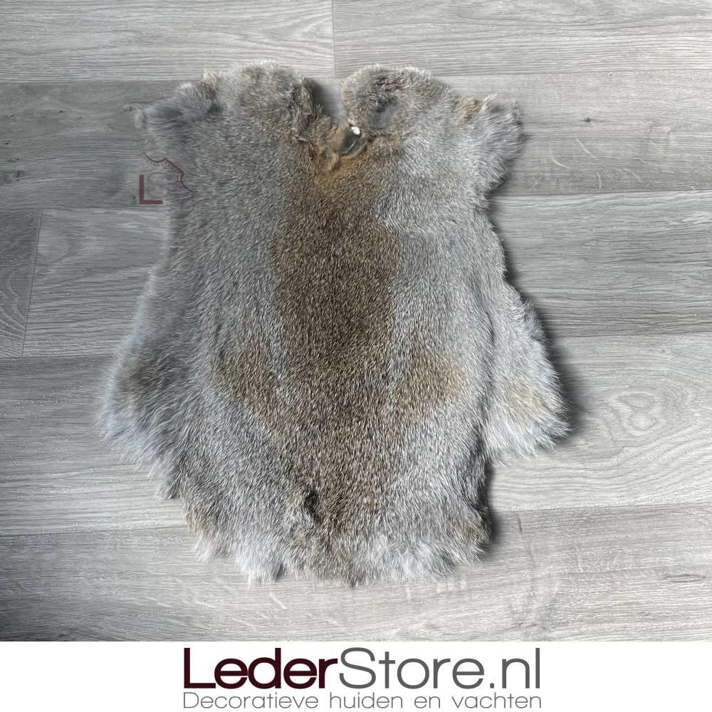 Konijnenvacht grijs bruin 45x35cm