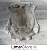 Rabbit skin grey brown 45x40cm