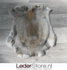 Konijnenvacht grijs bruin 45x40cm