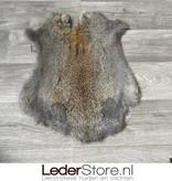 Konijnenvacht grijs bruin 50x40cm