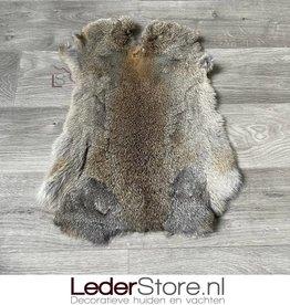 Konijnenvacht grijs bruin 50x35cm