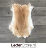 Rabbit skin beige white 55x40cm