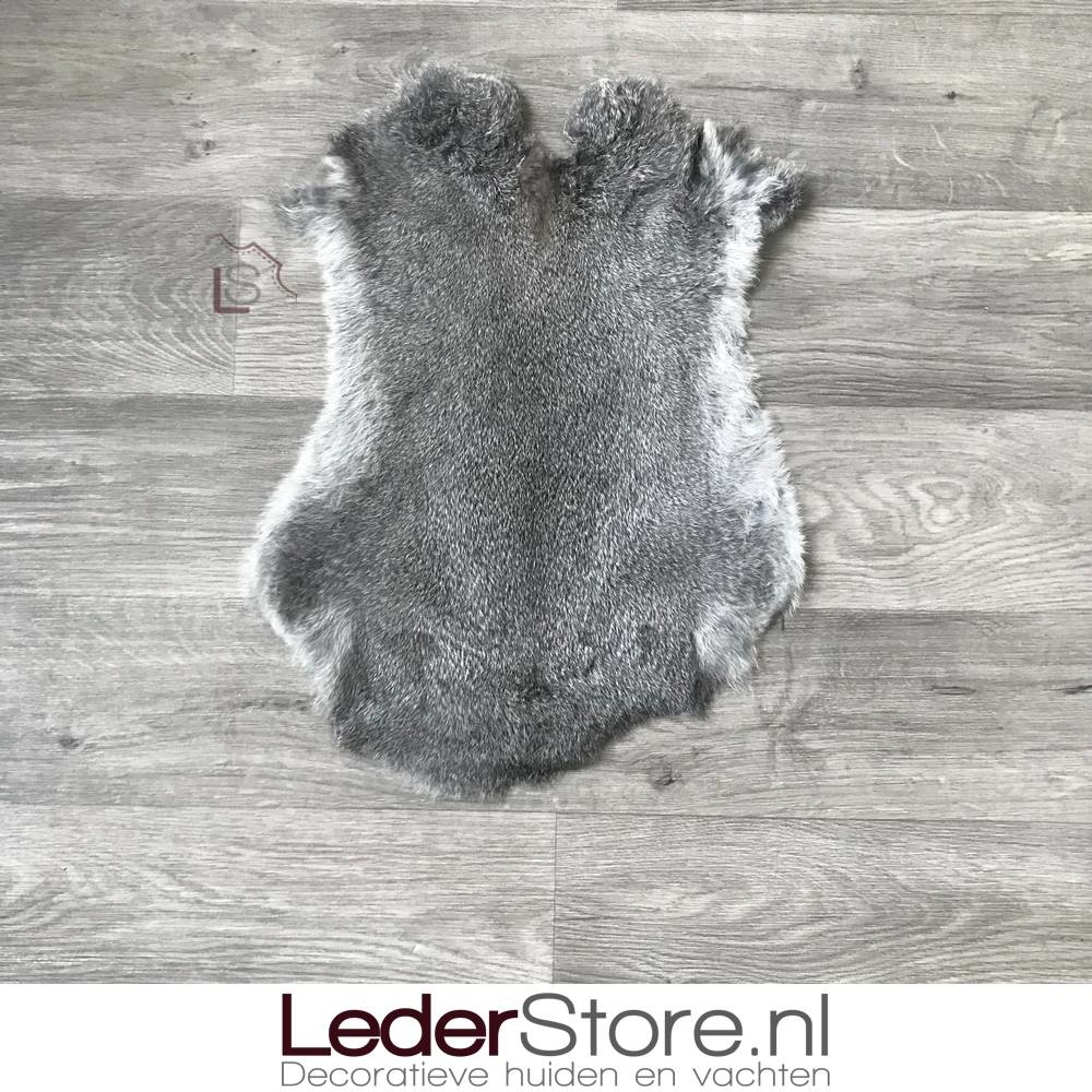 Rabbit skin grey brown 50x35cm