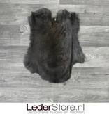 Konijnenvacht donker bruin grijs 50x40cm
