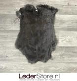 Konijnenvacht donker bruin grijs 50x35cm