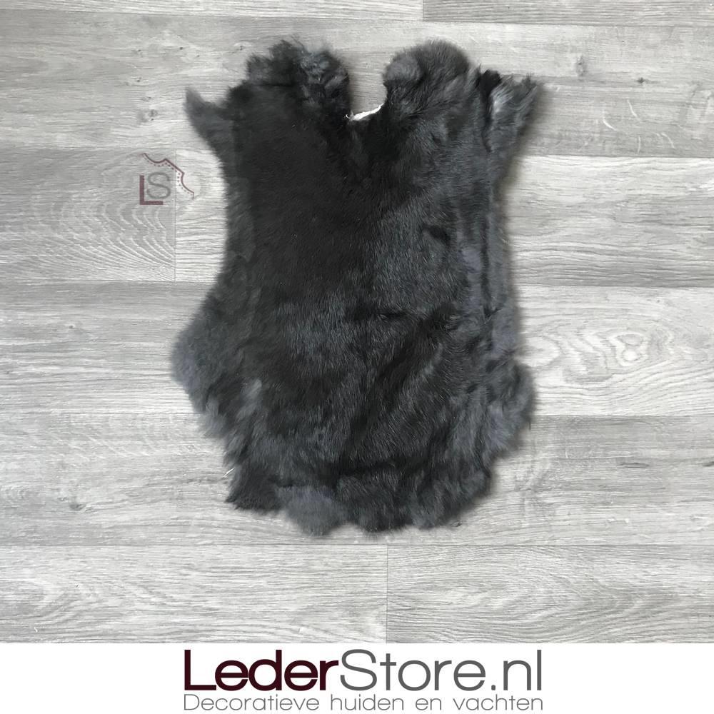 Konijnenvacht zwart 50x40cm