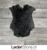 Rabbit skin black 50x40cm