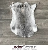 Konijnenvacht grijs wit 50x40cm