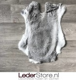 Rabbit skin grey white 50x35cm