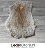 Rabbit skin grey brown 50x35cm