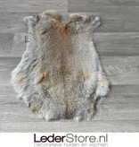 Konijnenvacht grijs bruin 55x40cm