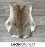 Konijnenvacht grijs bruin wit 50x35cm